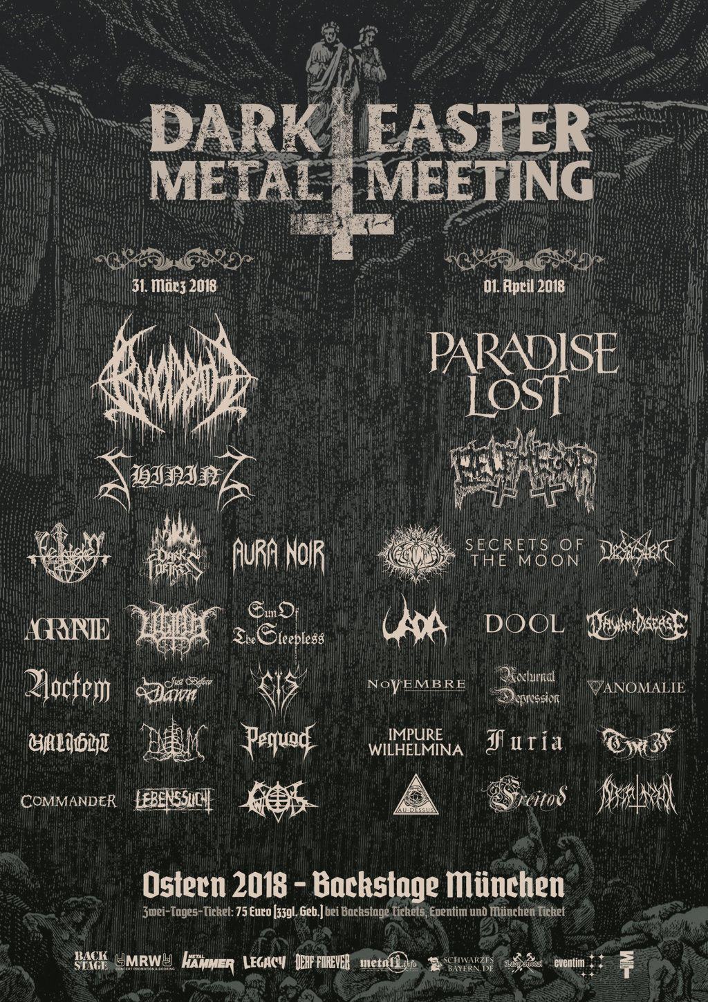 Dark Easter Metal Meeting 2018 im Backstage München